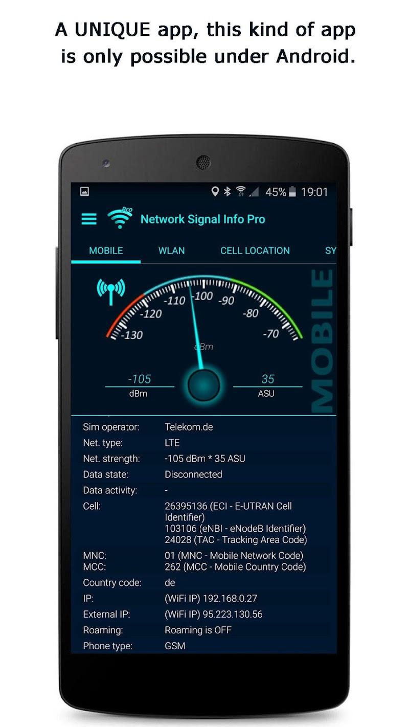 Network Signal Info Pro Screenshot