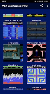 MSX Best Games PRO Screenshot