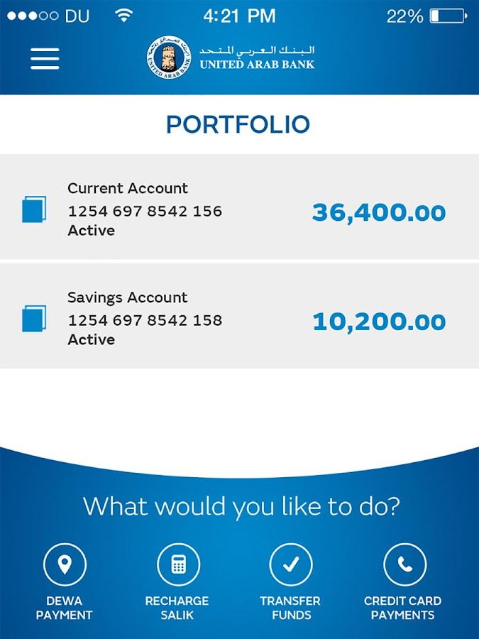 UAB Personal Mobile Banking- screenshot