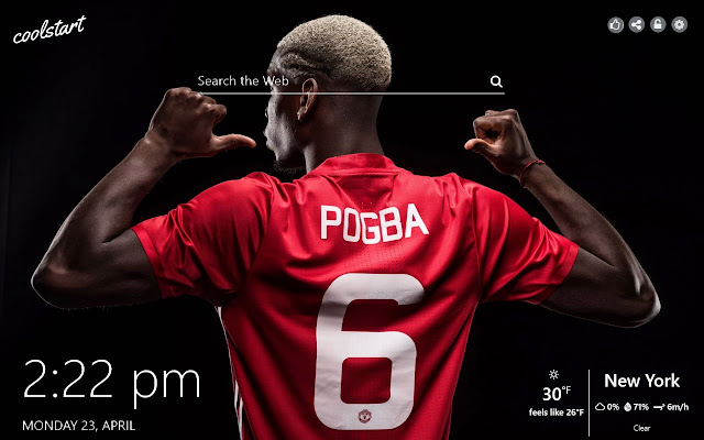 Paul Pogba HD Wallpapers Soccer New Tab Theme