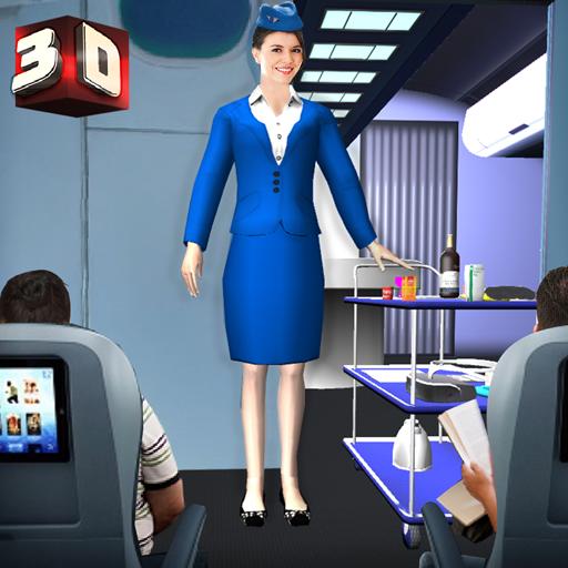 Download Airport Staff Flight Attendant Air Hostess Games