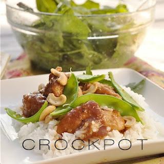 Crockpot Cashew Nut Chicken}with a gluten free version too!