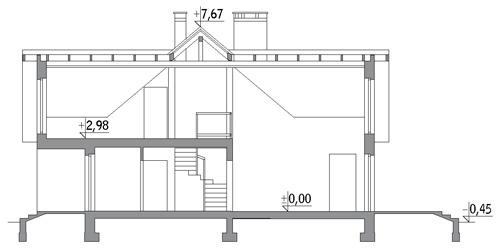 Druh - wariant I - C298a - Przekrój