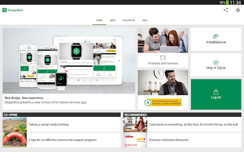 Desjardins mobile services- screenshot thumbnail