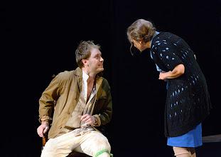 Photo: Wien/ Volksoper: ALBERT HERRING. Inszenierung Brigitte Fassbaender, Premiere 15.2.2014. Sebastian Kohlhepp, Martina Mikelic. Foto: Barbara Zeininger