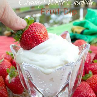 Creamy White Chocolate Fruit Dip
