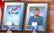 Portraits of Mandla Maseko were displayed at his funeral in  Mabopane.