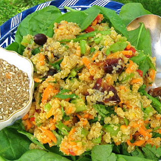 Iftar Quinoa with Olives, Dates and Dukkah Recipe