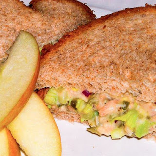 Low Calorie Tuna Sandwiches with Crispy Celery and Pickles