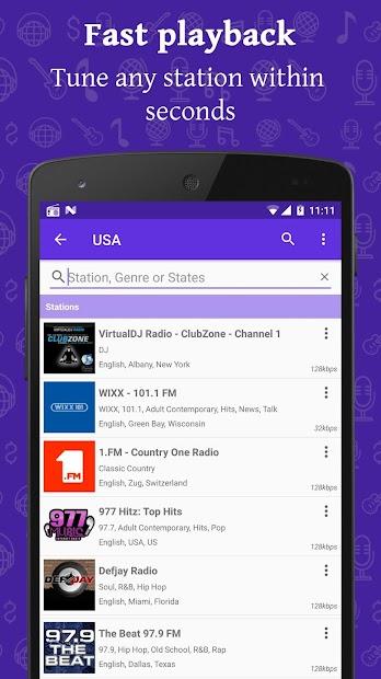 Radio FM Android App Screenshot
