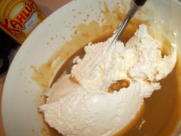 Fold in the cool whip, serve immediately or refrigerate, covered until ready to serve.  Serve...
