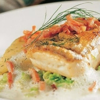 Pike With Vegetables And Egg Sauce