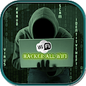Hacker all Wifi simulated icon