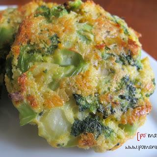 Cheesy Roasted Broccoli Patties.