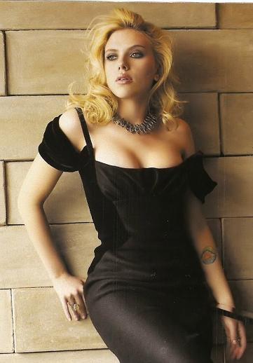 Scarlett Johansson in sexy black dress