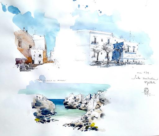 stages carnets de voyage aquarelle Jeanne PAPA Italie