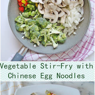 Vegetable Stir-Fry with Chinese Egg Noodles.