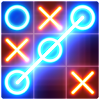 Tic Tac Toe glow - Free Puzzle Game APK Icon