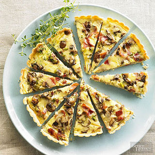 Bacon-Mushroom Quiche with Gruyere and Thyme