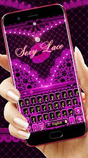 Purple sexy lace keyboard - náhled