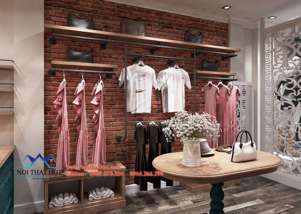 thiết kế cửa hàng thời trang đẹp và thông thoáng bày được nhiều đồ
