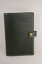 Photo: S5001 ($50.95) Forest Green color chrome tanned leather for Hardcover Big Book (Snap & Strap)