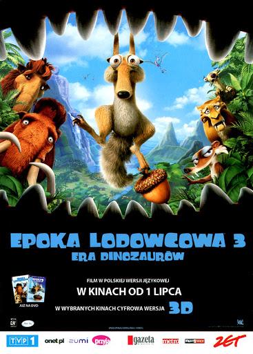 Przód ulotki filmu 'Epoka Lodowcowa 3: Era Dinozaurów'