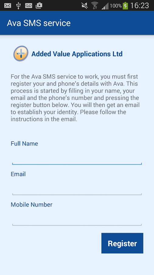 Ava staff agency messaging- screenshot