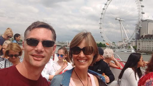The Thames with the London Eye