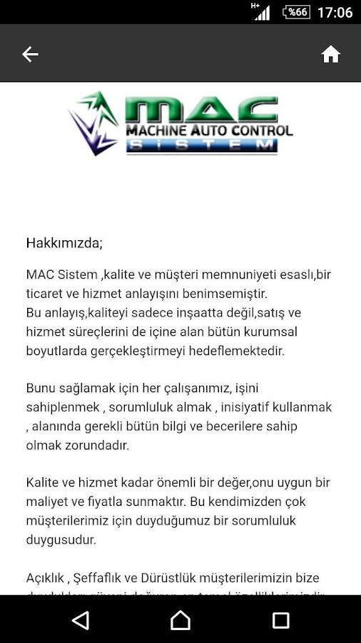 Mac End.Mak. İml. Tic.Ltd.Şti.- screenshot