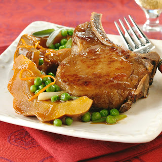Autumn Vegetables and Pork Chops Recipe