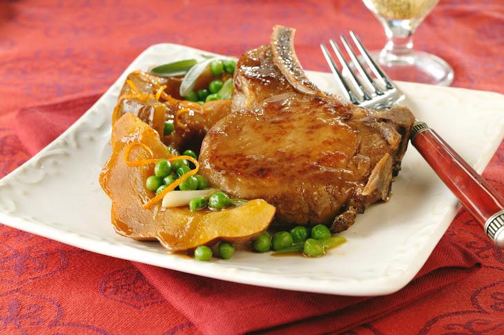 Autumn Vegetables and Pork Chops Recipe