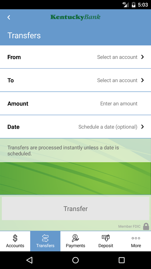 Kentucky Bank- screenshot