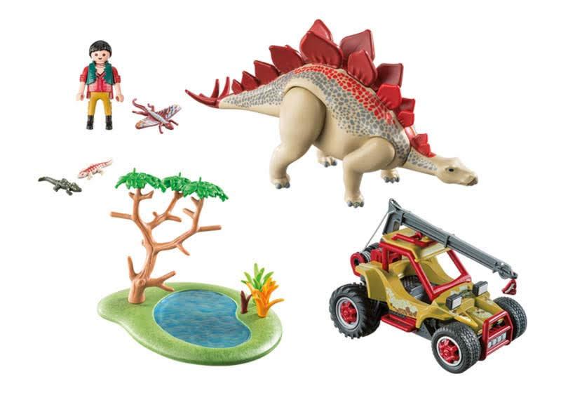 Contenido Real de Playmobil® 9432 Vehículo Explorador con Estegosaurio