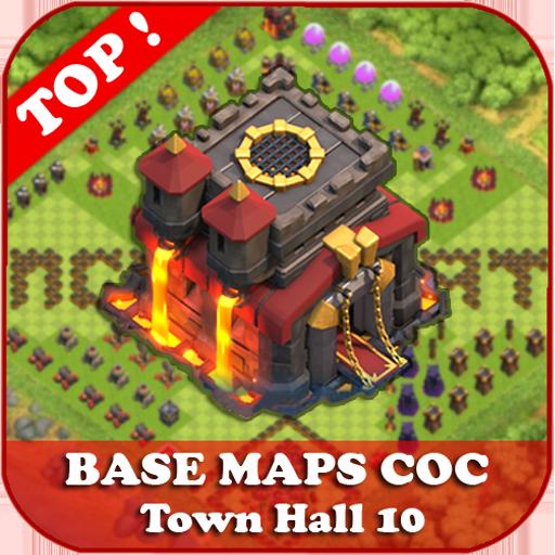 Top Base Maps COC TH 10