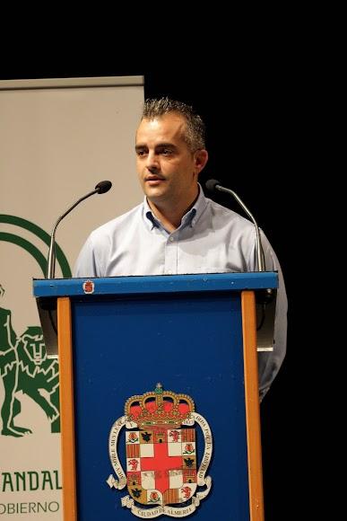 David Lozano, concejal de Seguridad, Policía Local y Protección Civil de Níjar, en su intervención.