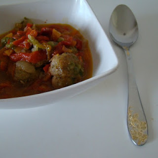 Meatballs with Roasted Peppers