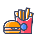 L J Fast Food, Seshadripuram, Bangalore logo