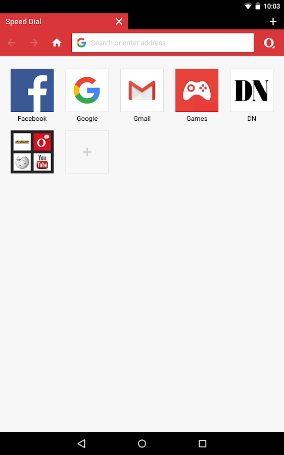 Browser Opera Mini- screenshot