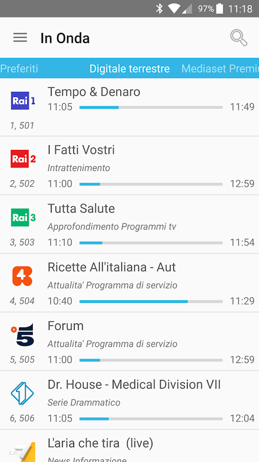 Guida programmi TV Plus Gratis- screenshot