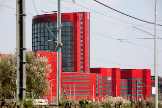 Photo: Day 20 - What a Colour for a Building! (On Way into Esch)