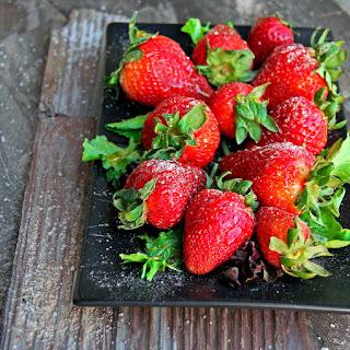 Ginger-Honey Glazed Fresh Strawberries