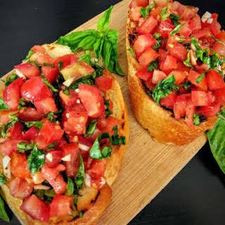 Tomato & Basil Bruschetta.