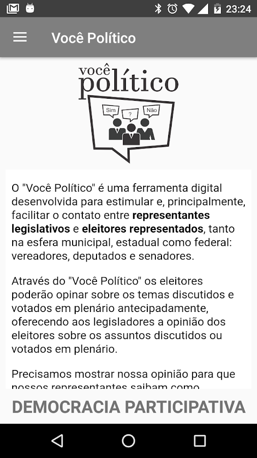 Voce Politico - Democracia Participativa- screenshot