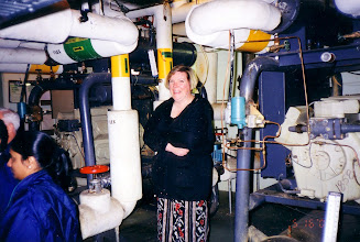 Photo: Diefenbunker: Cathy Godin feeling chilled next to the chillers