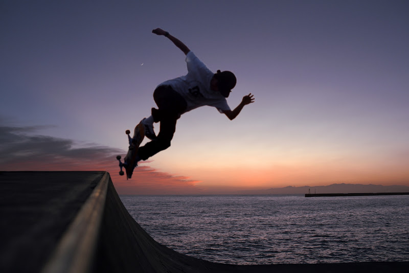 Skating in the sunset di Dariagufo