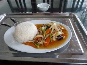 Photo: Ninh Binh - motobiking around NB and Com ga for lunch (rice w chicken, mushrooms, carrot... 30k VND)