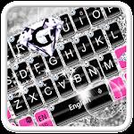 Pink Silver Diamond Keyboard Theme Icon