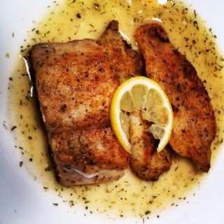 Pan Roasted Mahi-Mahi in a Mediterranean Garlic Lemon Sauce