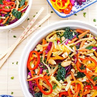 Colorful Asian Noodle Salad.
